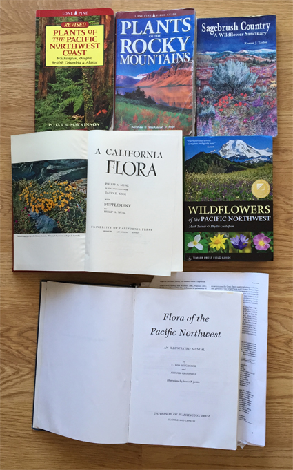 Botany books to meet my 2016 goal of better plant taxonomy.